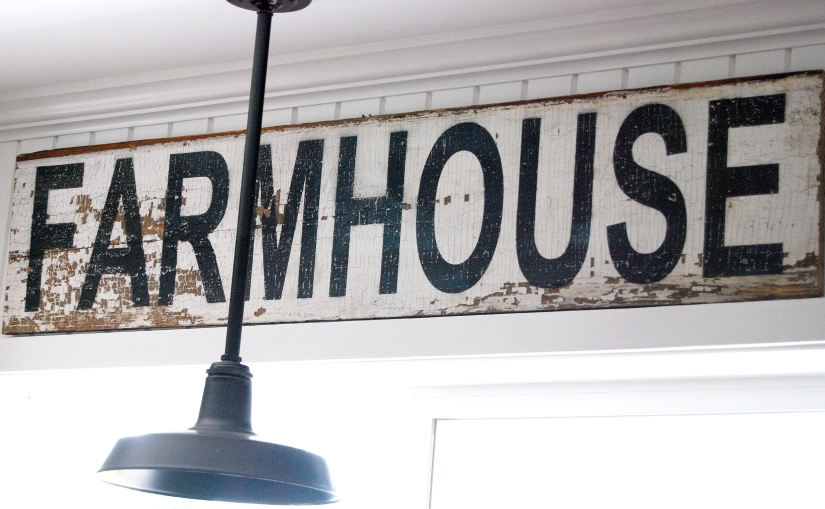 Sharpened Farmhouse sign