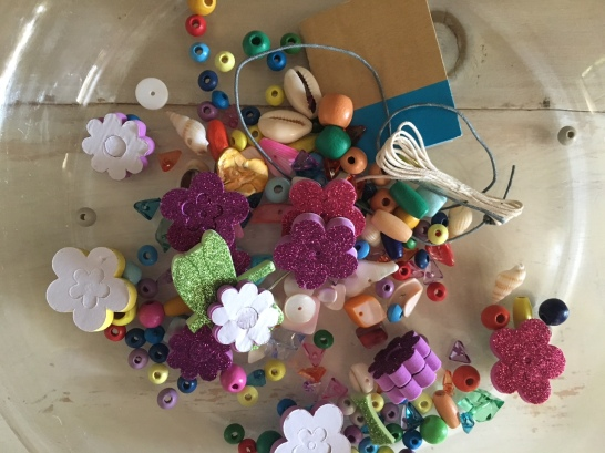 Beads and stickers